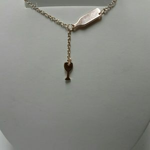 ROSE GOLD WINE GLASS and BOTTLE NECKLACE